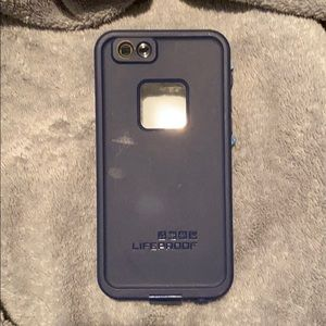 navy blue life proof case
